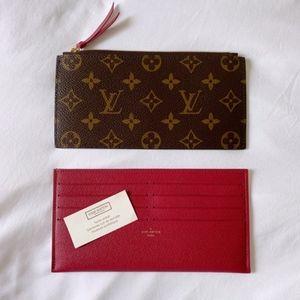 Authentic Louis Vuitton Card Cash Holder Pouch set